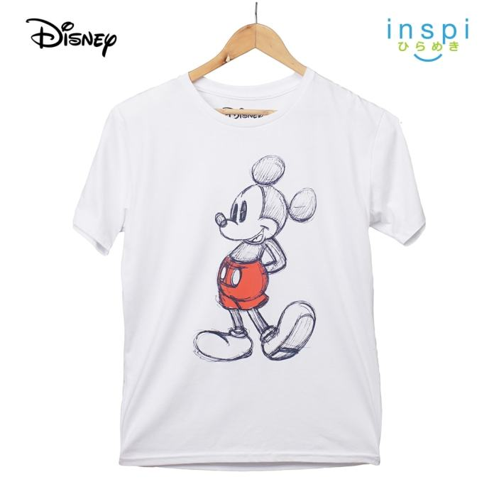 Disney Mickey Mouse Anchor Graphic Tshirt in White For Men