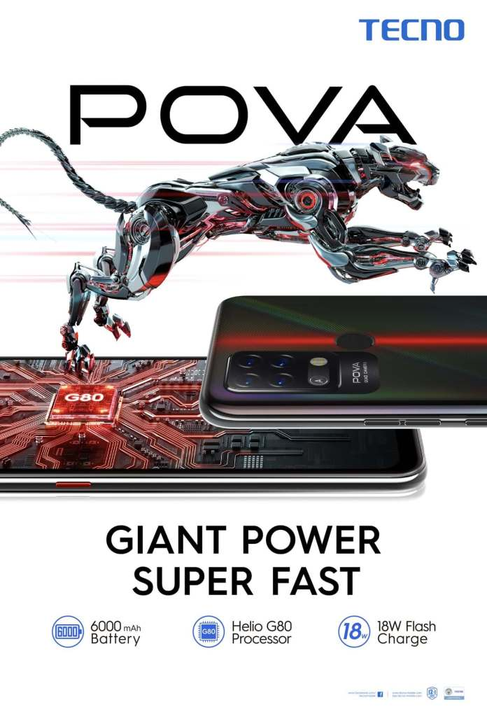 Tecno POVA - Giant Power Super Fast KV