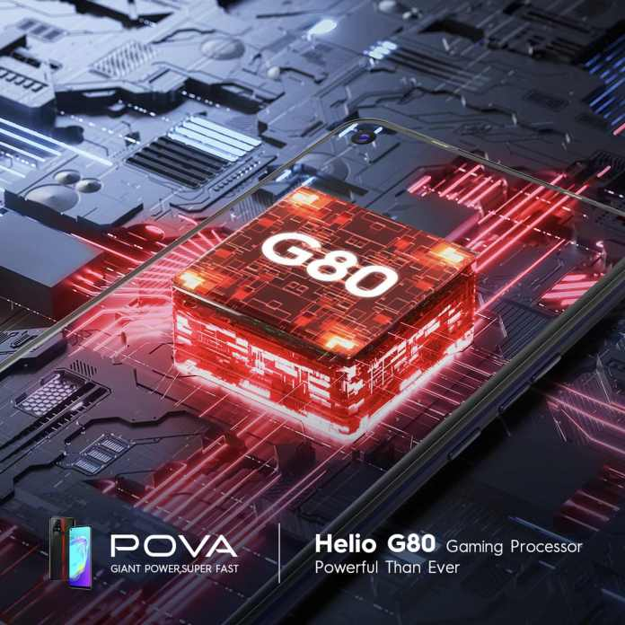 Tecno POVA - Helio G80 Gaming Processor
