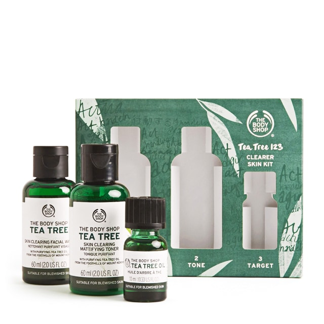 The Body Shop Tea Tree 123 Clearer Skin Kit (For Her, For Him)