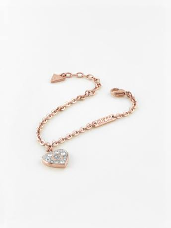 GUESS Pave G Heart Crystals Bracelet
