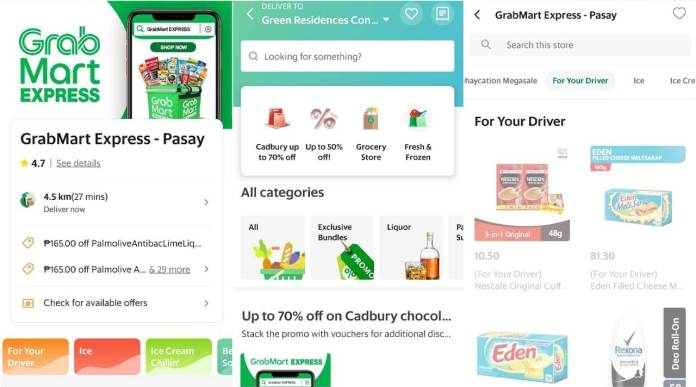 GrabMart Groceries For Your Rider - App