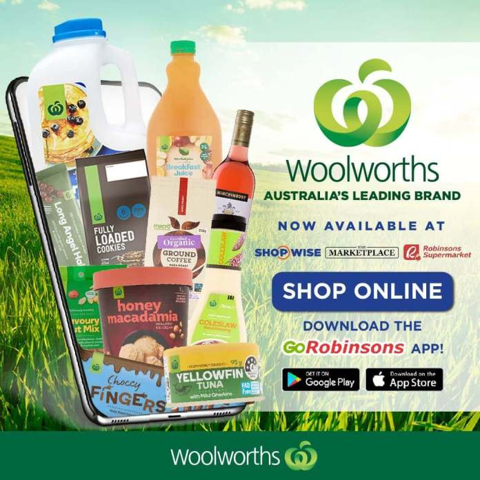 WOOLWORTHS Now Avaliable in Shopwise, The Marketplace and Robinsons Supermarket