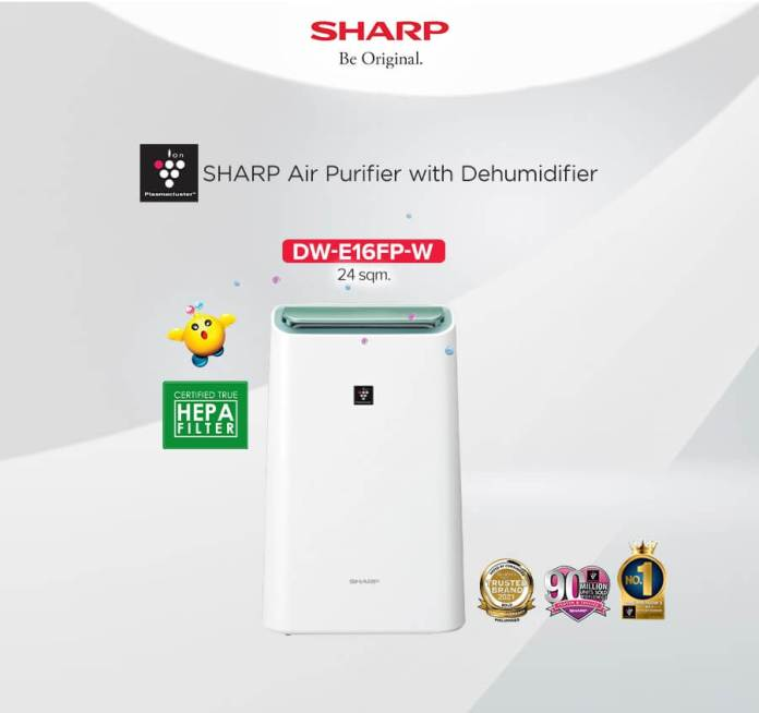 SHARP Rainy Day Solutions Plasmacluster 2-in-1 Air Purifier with Dehumidifier