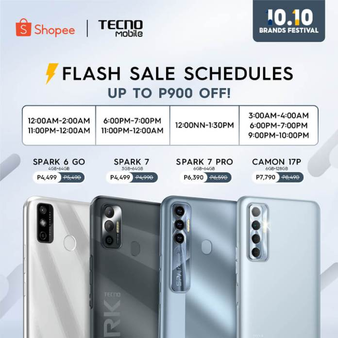 Camon 17P Smartphone at the 10.10 Sale on Shopee