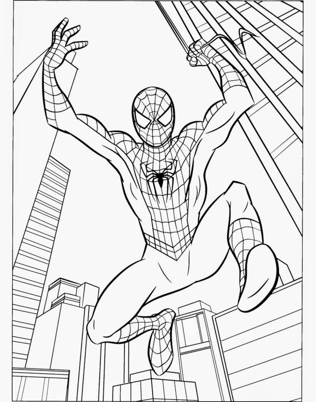 Coloring spiderman printable – iconmaker.info