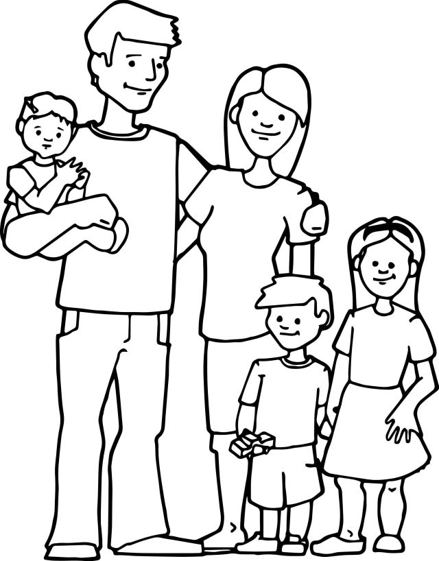 F is for family coloring page – iconmaker.info