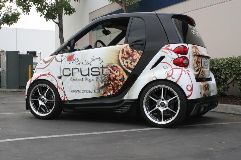Custom Designed Smart Car Wrap by Iconography  Long Beach