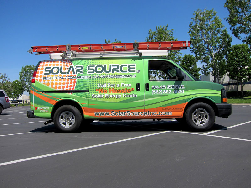 Solar Source Cargo Van Wrap by Iconography  Long Beach CA