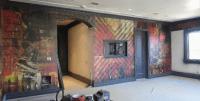 Graphic Wall Murals Wrap Up Interior Design, Los Angeles, CA
