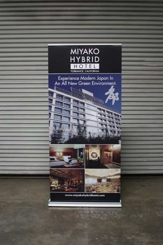 36 Indoor Retractable Banner and Stand  Torrance CA