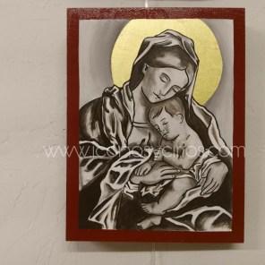 Virgen con Niño Dormido