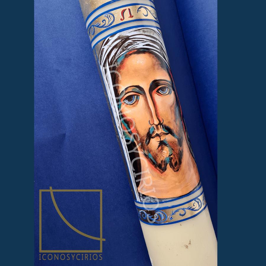 Cirio Pascual rostro de Cristo