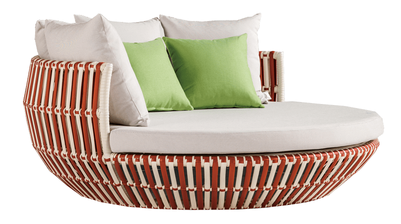 Apricot Modern Outdoor Round Chaise Lounge Daybed Icon