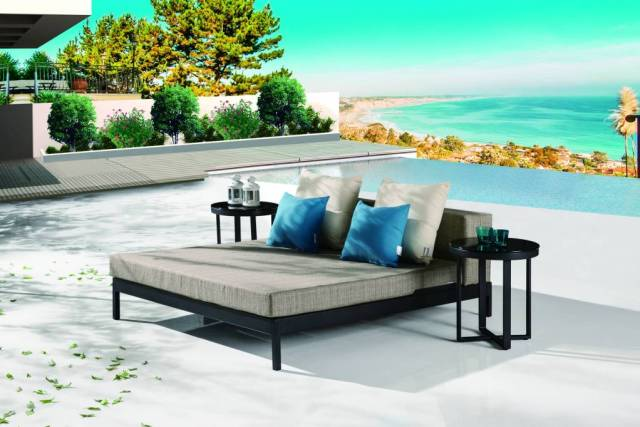 chaise lounges and daybeds beach beds icon outdoor contract. Black Bedroom Furniture Sets. Home Design Ideas