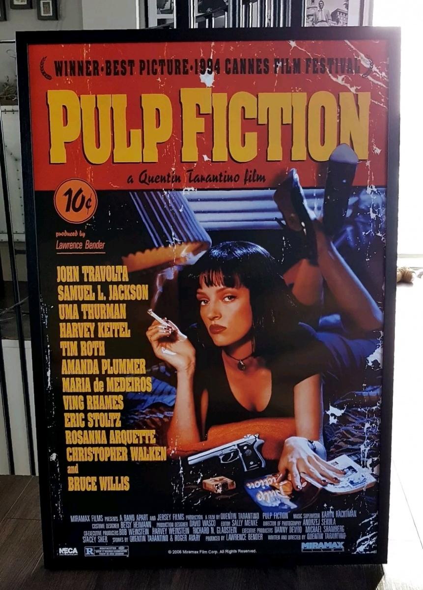 pulp fiction framed licensed film poster