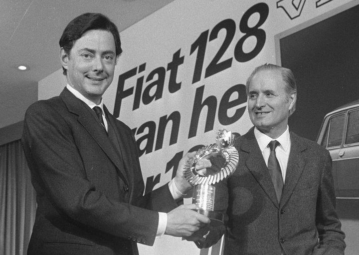 Dante Giacosa (derecha) junto a Umberto Agnelli