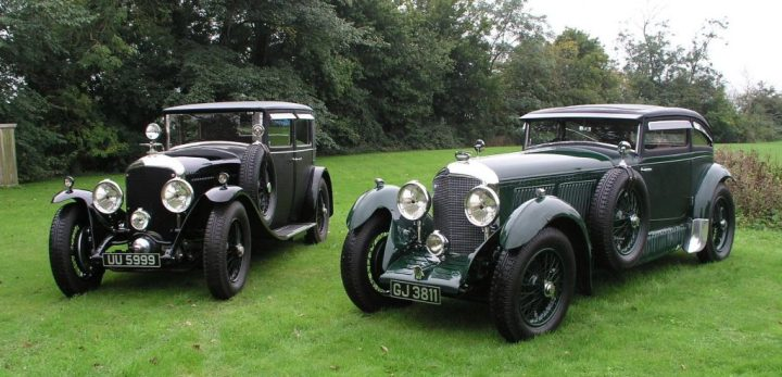 Bentley Speed Six Saloon Mulliner Saloon (1929) y Sports Coupé Gurney Nutting (1930)