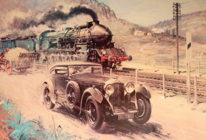 """Terence Cuneo: """"Woolf Barnato and the legend of the Blue Train"""""""