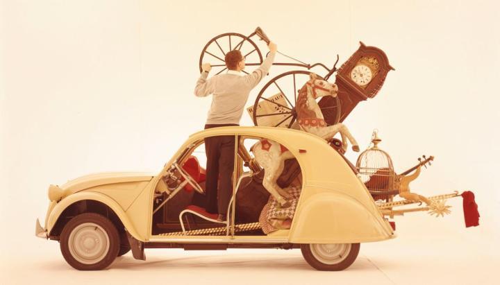 Publicidad de la época del Citroën 2CV (años '60) | Foto: Citroën