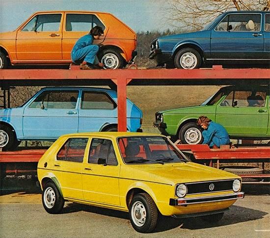 Golf: Esos colores setenteros | Volkswagen