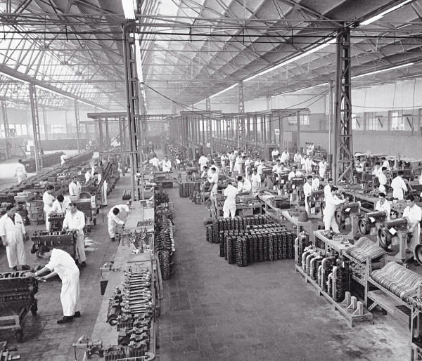 Una pequeña parte de la enorme fábrica en Villaverde