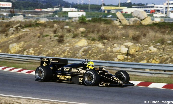 Ayrton Senna en Estoril en 1985