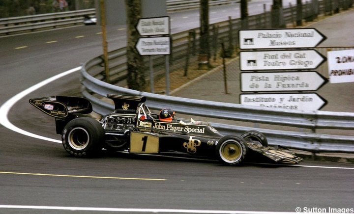 Emerson Fittipaldi en Montjuic en 1973