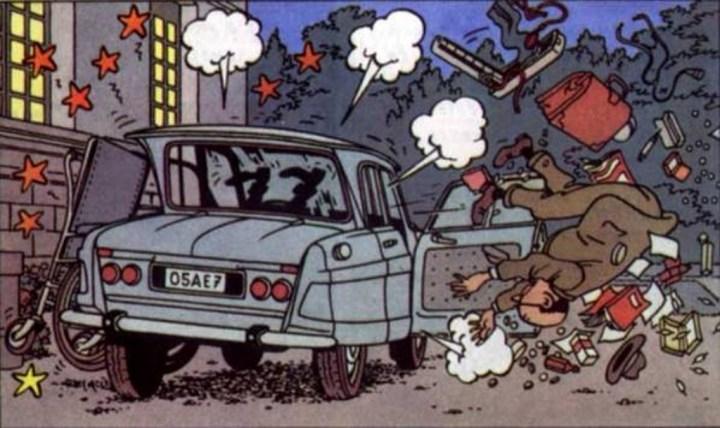 """Viñeta de """"Las Joyas de la Castafiore""""  Studios Hergé"""