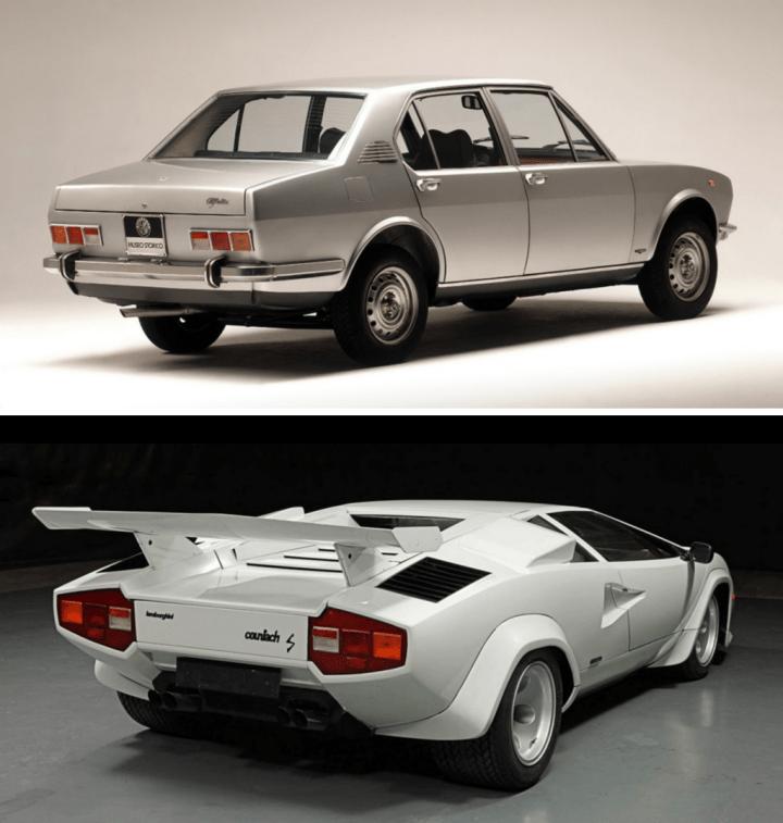 Alfa Romeo Alfetta & Lamborghini Countach | Alfa Romeo, Auto Storica