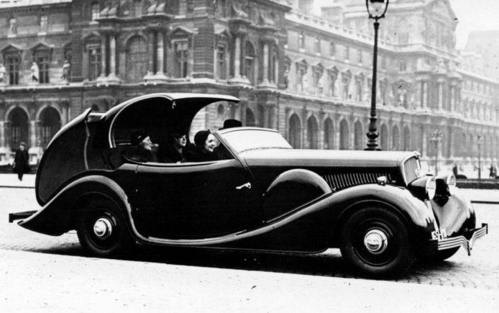 El Peugeot 402 en su versión Eclipse con techo escamoteable, invención del cirujano dentista Georges Paulin. Se harían 580 unidades entre 1935 y 1940