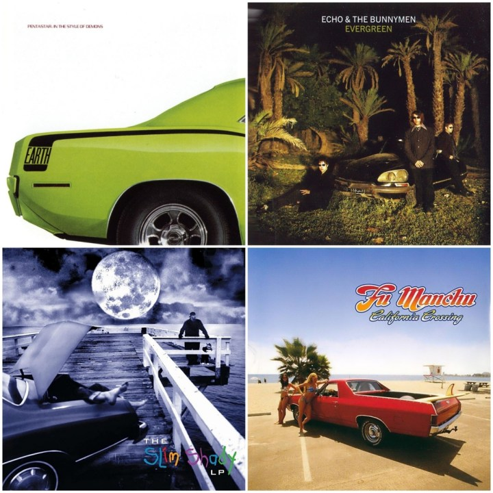 Earth - Pentastar In the style of demons · Echo & the Bunnymen - Evergreen · Eminem - The Slim Shady LP · Fu Manchu - California Crossing