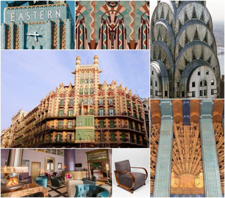 """Esta imágenes Art Déco incluyen la """"casa China"""" de Barcelona y el edificio Chrysler de Nueva York"""