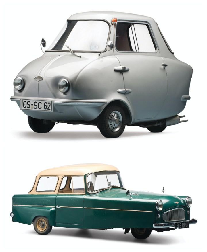 Scootacar y Bond Minicar Mk C