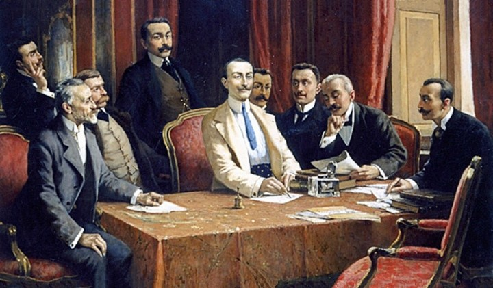 """""""I fondatori della F.I.A.T."""" por Lorenzo Delleani"""