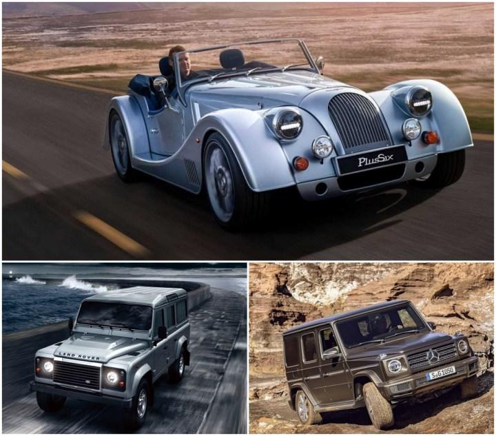 Morgan, Land Rover y Mercedes G