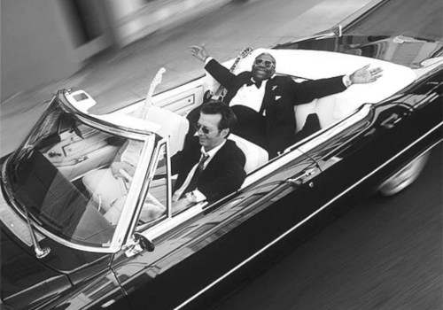 Eric Clapton y BB King navegando en un Cadillac para la portada del disco Riding with the King el 13 de junio de 2000 | Robert Sebree