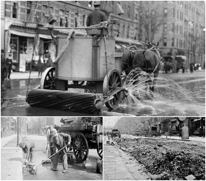 Limpieza de las calles a finales del siglo XIX