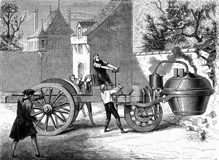 Coches a vapor: Fardie a vapor de Nicholas Cugnot