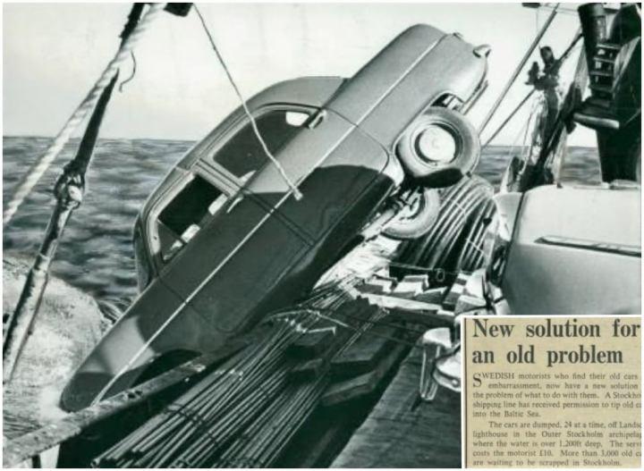Anécdotas de los coches clásicos: Coche al agua