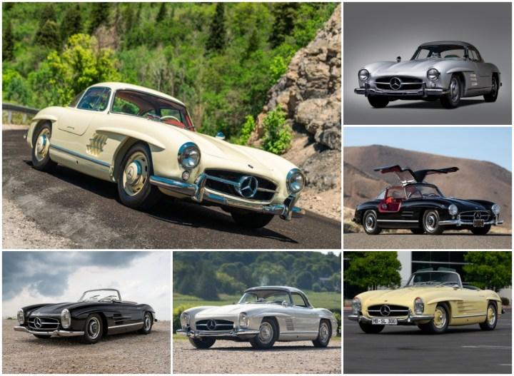 Subastas monterey 2021: Mercedes-Benz 300 SL Roadster de 1963, Coupe de 1955, Roadster de 1957, Coupe, e 1957, Coupé de 1956 y Roadster de 1961 | RM Sotheby's, Gooding, Bonhams y Mecum.