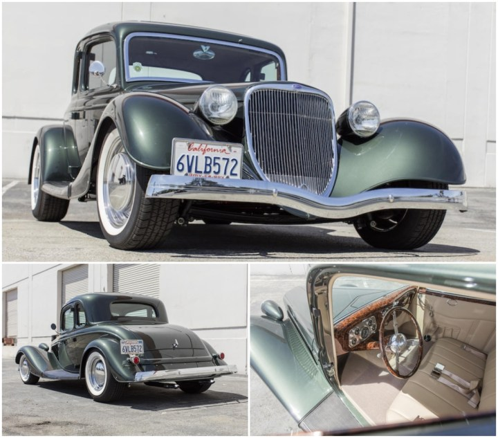 Subastas Monterey 2021: 1933 FORD 5-WINDOW COUPE HOT ROD est 70-90.000 $ 119.840 $   Bonhams