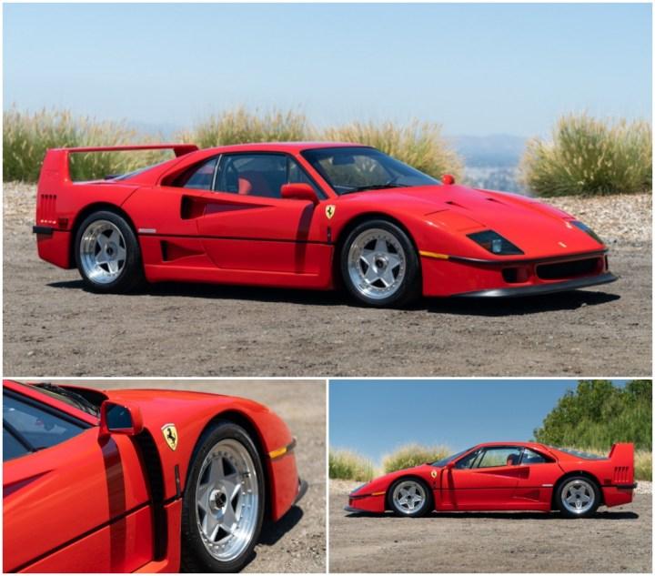 1992 Ferrari F40 est 1,7-2,2 M$ 2.892.500 $   Gooding