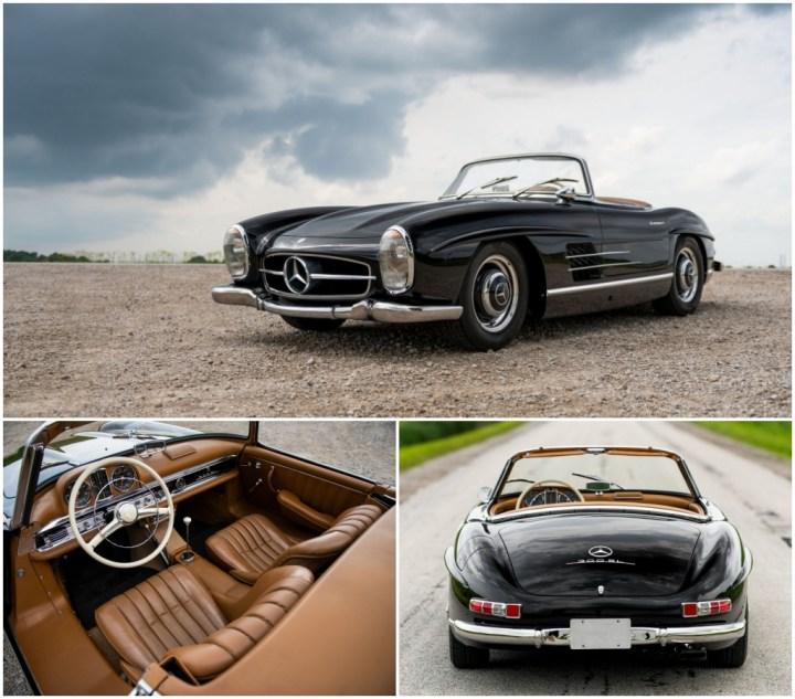 1957 Mercedes Benz 300 SL Roadster est 1,3-1,6 M$ 1.655.000 $   RM Sotheby's