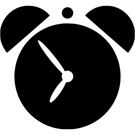 Black Alarm Clock 2 Icon Free