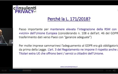 """""""La nuova privacy a San Marino"""": disponibile il video integrale dell'evento di formazione"""