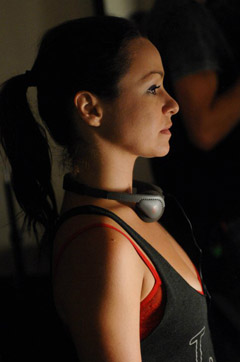 Danielle Harris On The Set Of 'Among Friends'