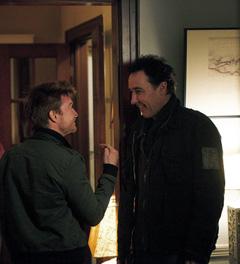 Scott Coffey and John Cusack On Set