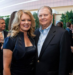 Burt Sugarman and his wife, Mary Hart.