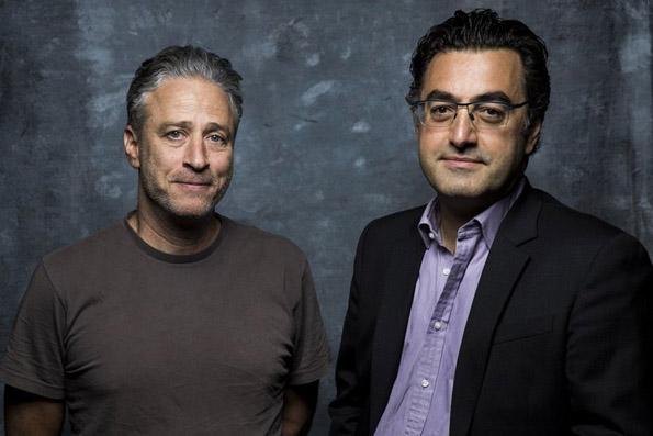 Jon Stewart and Maziar Bahari